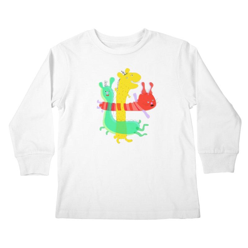 Baby Monster Party Kids Longsleeve T-Shirt by julianepieper's Artist Shop