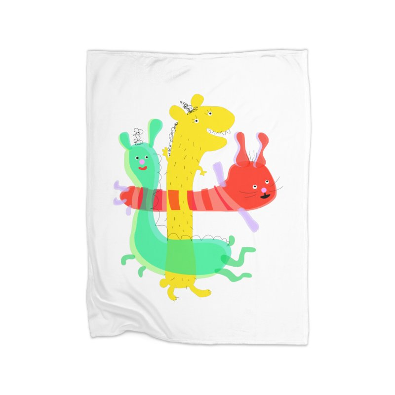 Baby Monster Party Home Blanket by julianepieper's Artist Shop