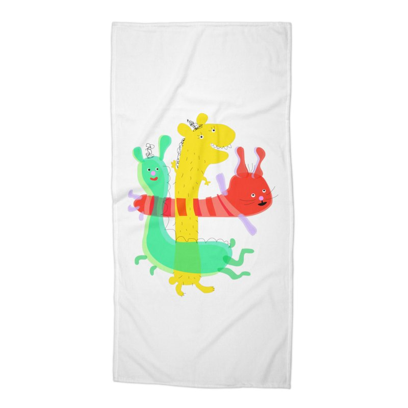 Baby Monster Party Accessories Beach Towel by julianepieper's Artist Shop