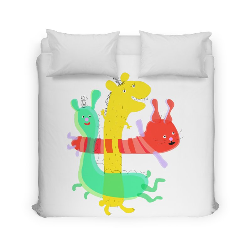 Baby Monster Party Home Duvet by julianepieper's Artist Shop