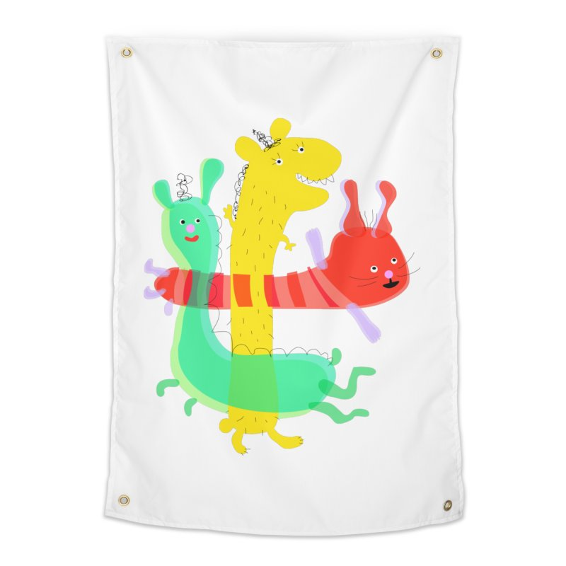 Baby Monster Party Home Tapestry by julianepieper's Artist Shop