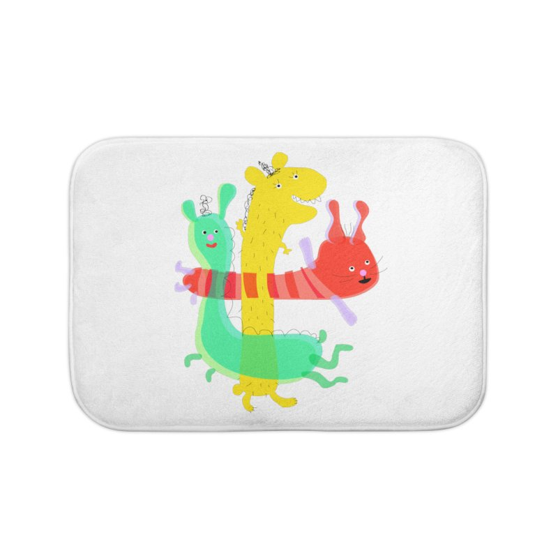Baby Monster Party Home Bath Mat by julianepieper's Artist Shop