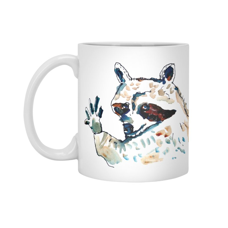 friendly racoon Accessories Mug by julianepieper's Artist Shop