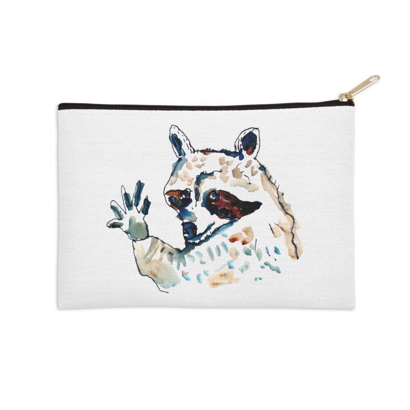 friendly racoon Accessories Zip Pouch by julianepieper's Artist Shop