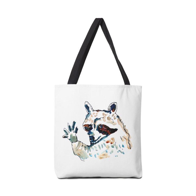 friendly racoon Accessories Bag by julianepieper's Artist Shop