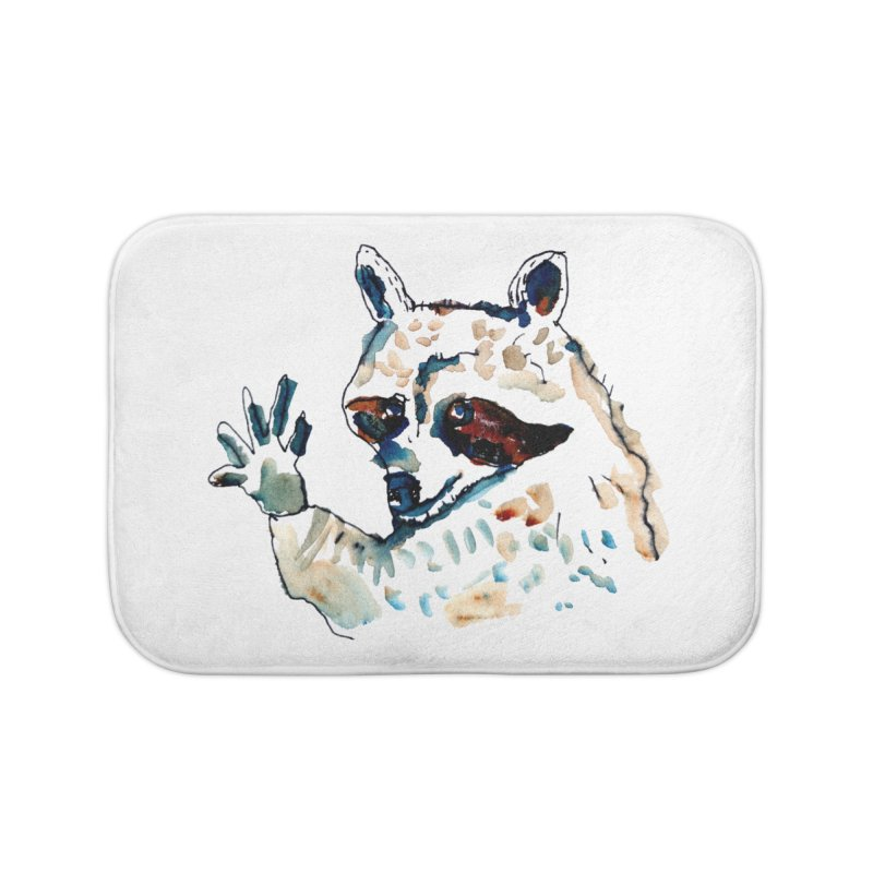 friendly racoon Home Bath Mat by julianepieper's Artist Shop