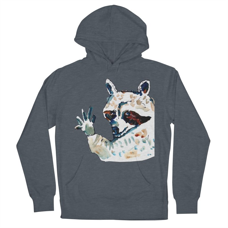 friendly racoon Women's Pullover Hoody by julianepieper's Artist Shop