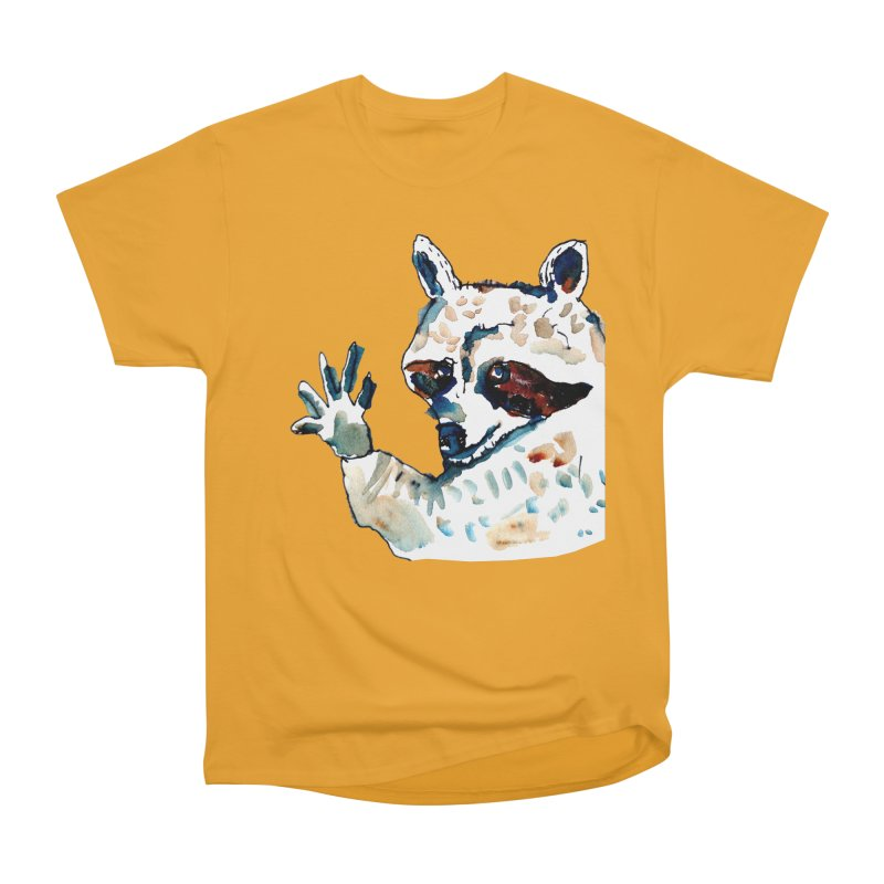 friendly racoon Men's Heavyweight T-Shirt by julianepieper's Artist Shop