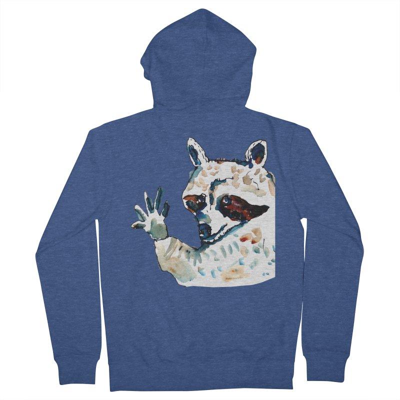 friendly racoon Women's Zip-Up Hoody by julianepieper's Artist Shop