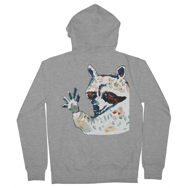 friendly racoon Women's Zip-Up Hoody by julianepieper's Artist Shop