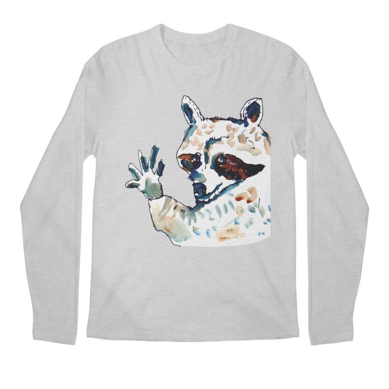 friendly racoon Men's Longsleeve T-Shirt by julianepieper's Artist Shop