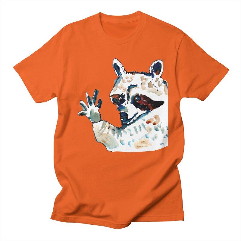 friendly racoon Women's Unisex T-Shirt by julianepieper's Artist Shop