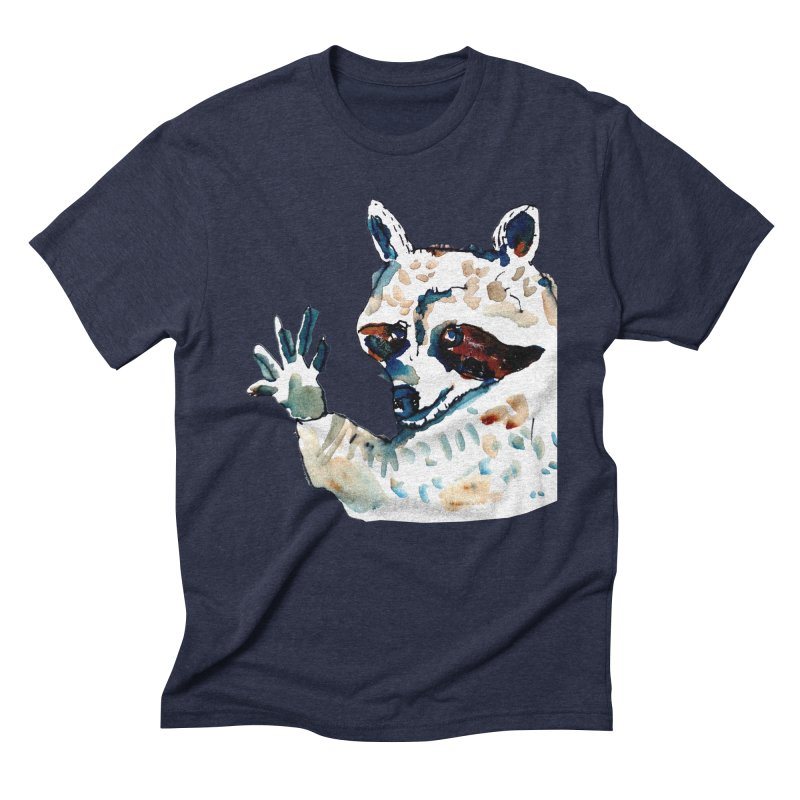 friendly racoon Men's Triblend T-Shirt by julianepieper's Artist Shop
