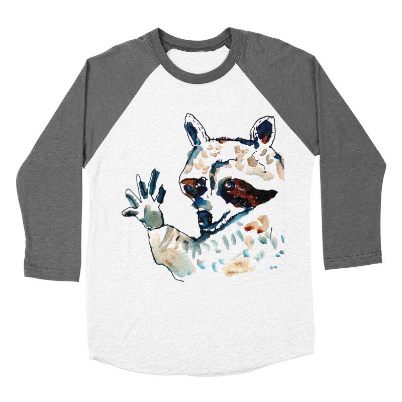 friendly racoon Men's Baseball Triblend T-Shirt by julianepieper's Artist Shop