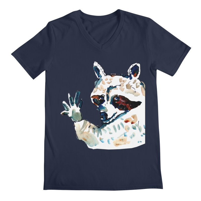 friendly racoon Men's V-Neck by julianepieper's Artist Shop
