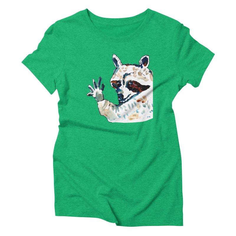 friendly racoon Women's Triblend T-Shirt by julianepieper's Artist Shop