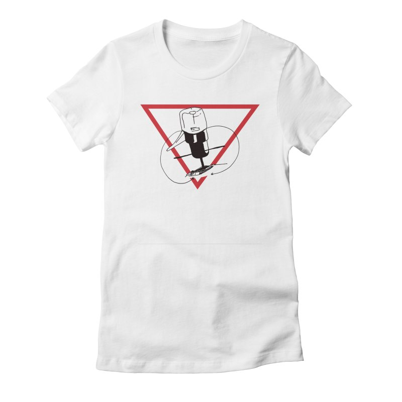 Traz Badge Women's Fitted T-Shirt by julianlytle's Artist Shop