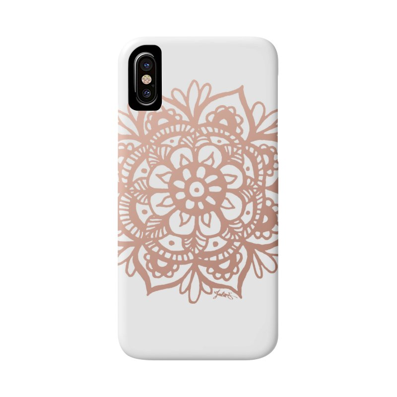 Rose Gold Mandala in iPhone X / XS Phone Case Slim by Julie Erin Design's Shop