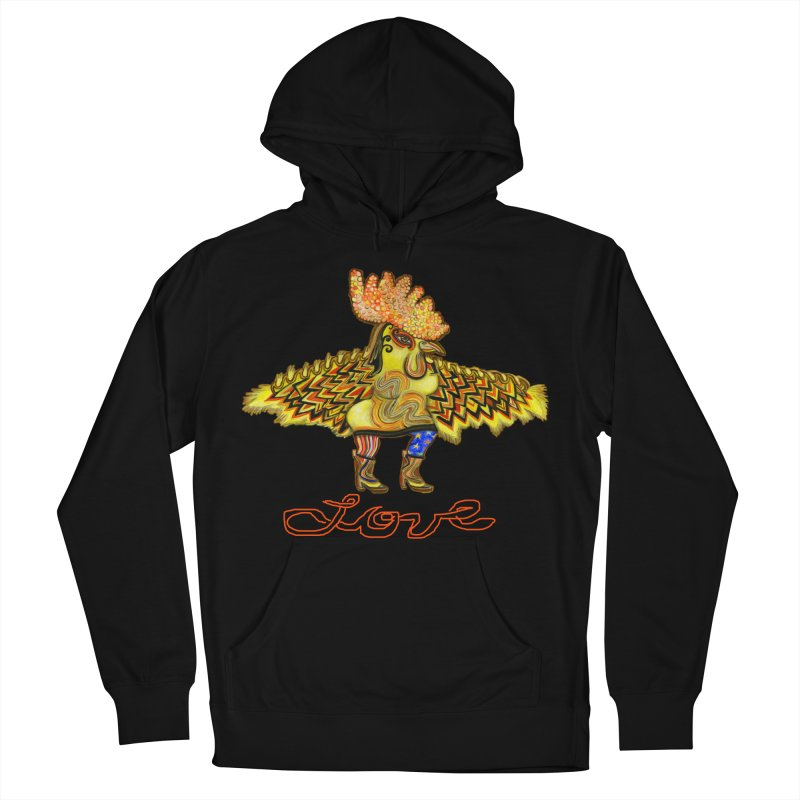 Charli the River Chicken Women's French Terry Pullover Hoody by Julie Murphy's Artist Shop