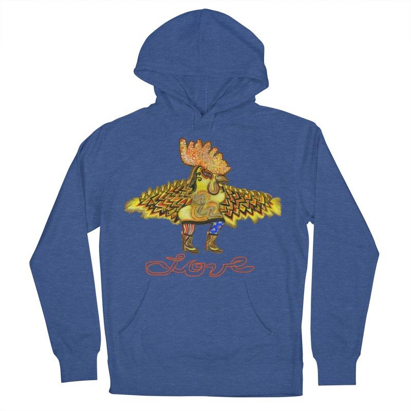 Charli the River Chicken Men's Pullover Hoody by Julie Murphy's Artist Shop