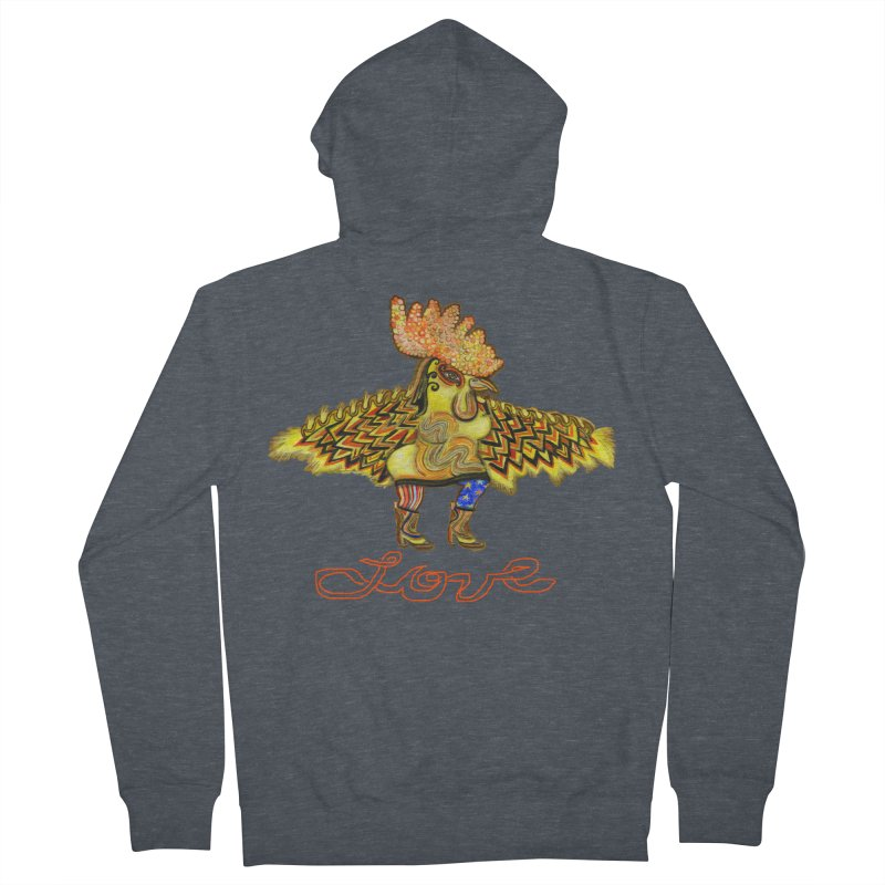 Charli the River Chicken Women's French Terry Zip-Up Hoody by Julie Murphy's Artist Shop
