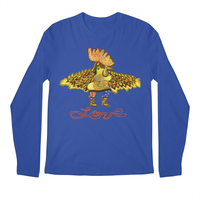 Charli the River Chicken Men's Regular Longsleeve T-Shirt by Julie Murphy's Artist Shop