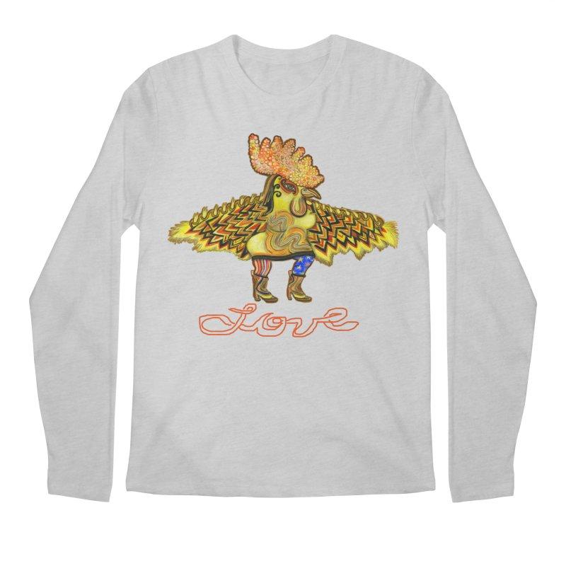 Charli the River Chicken Men's Regular Longsleeve T-Shirt by Julie Murphy's Artist Shop