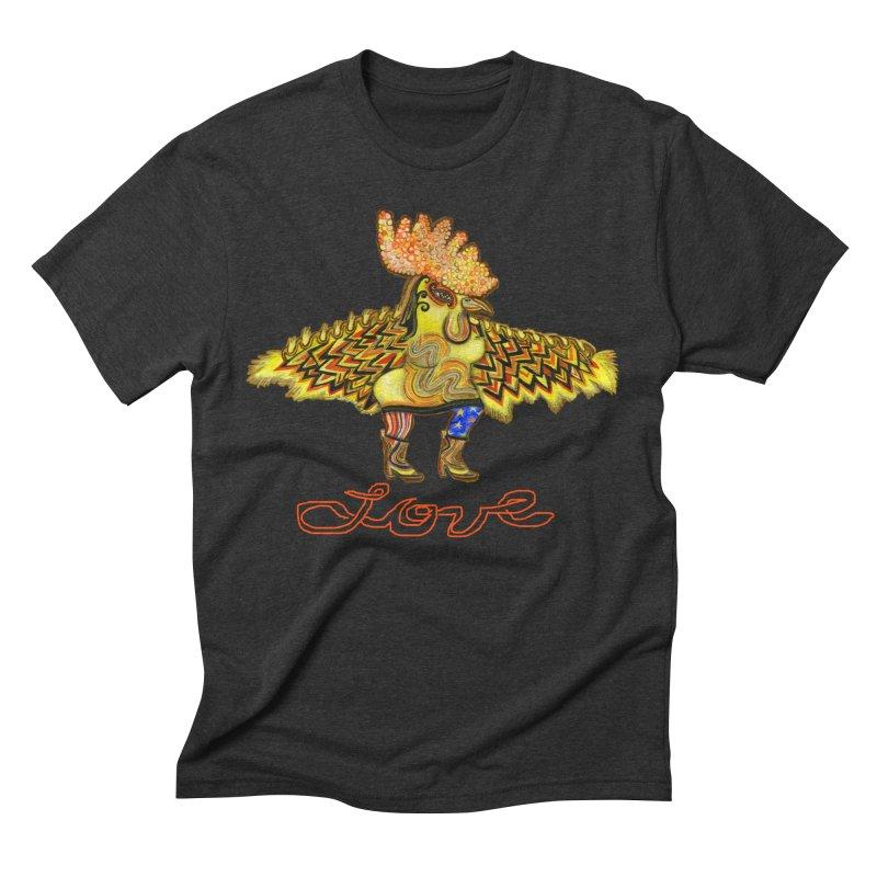 Charli the River Chicken Men's Triblend T-Shirt by Julie Murphy's Artist Shop