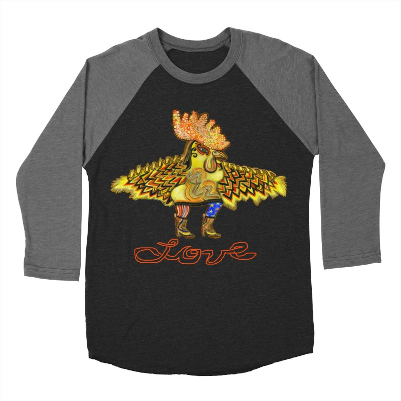Charli the River Chicken Women's Baseball Triblend T-Shirt by Julie Murphy's Artist Shop