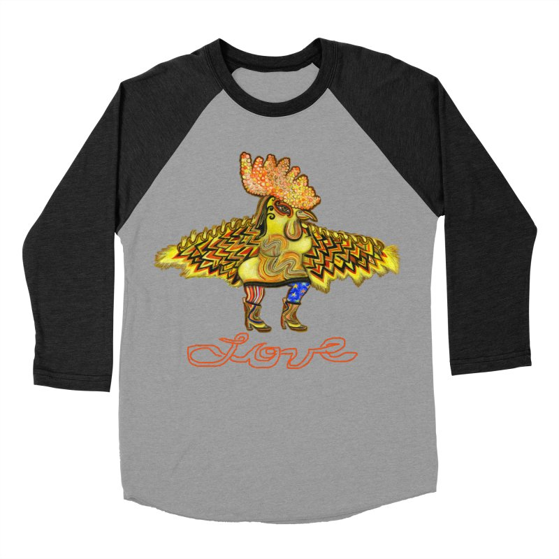 Charli the River Chicken Men's Baseball Triblend T-Shirt by Julie Murphy's Artist Shop