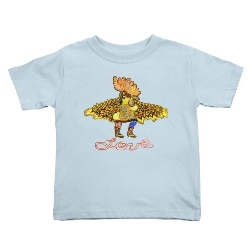 Charli the River Chicken Kids Toddler T-Shirt by Julie Murphy's Artist Shop