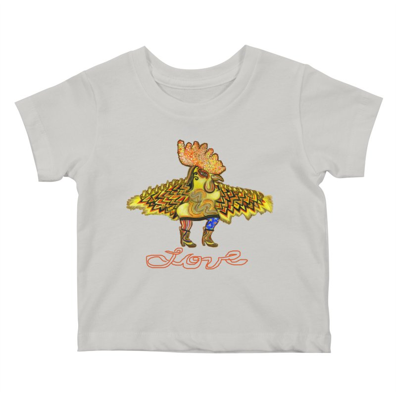Charli the River Chicken Kids Baby T-Shirt by Julie Murphy's Artist Shop