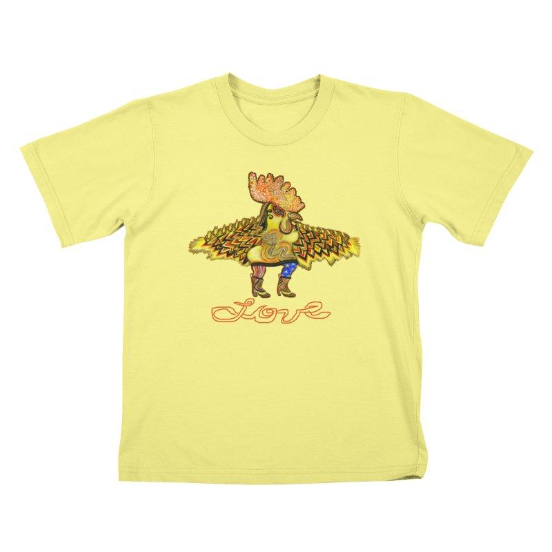 Charli the River Chicken Kids T-shirt by Julie Murphy's Artist Shop