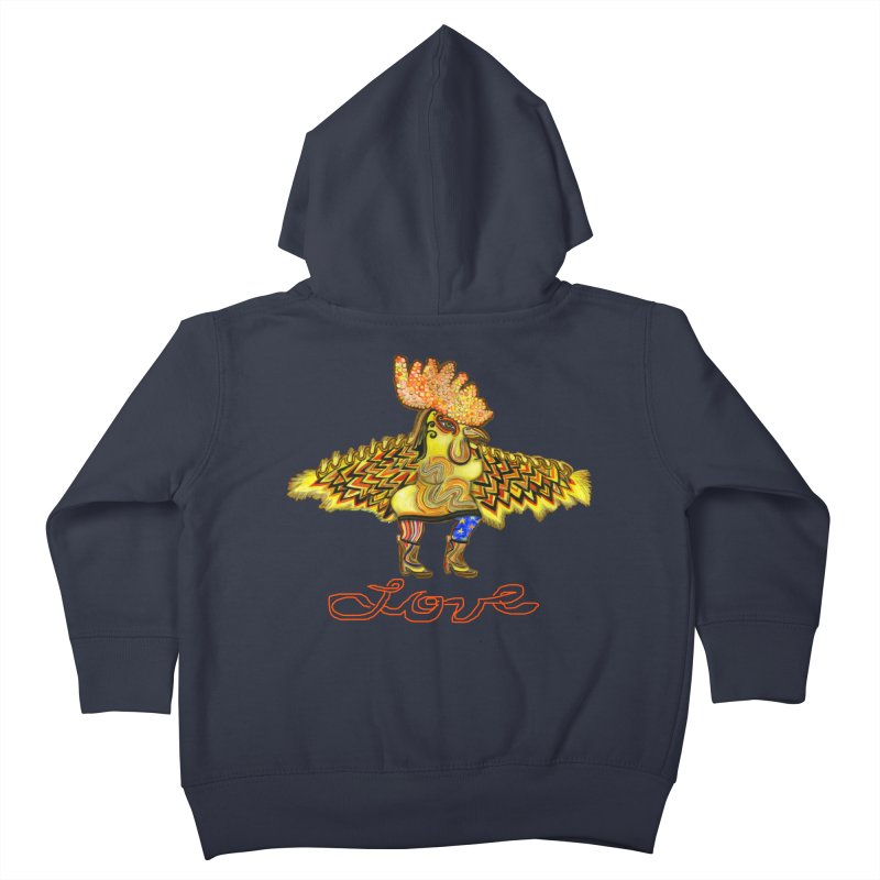 Charli the River Chicken Kids Toddler Zip-Up Hoody by Julie Murphy's Artist Shop