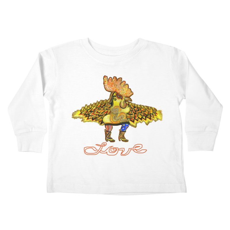 Charli the River Chicken Kids Toddler Longsleeve T-Shirt by Julie Murphy's Artist Shop