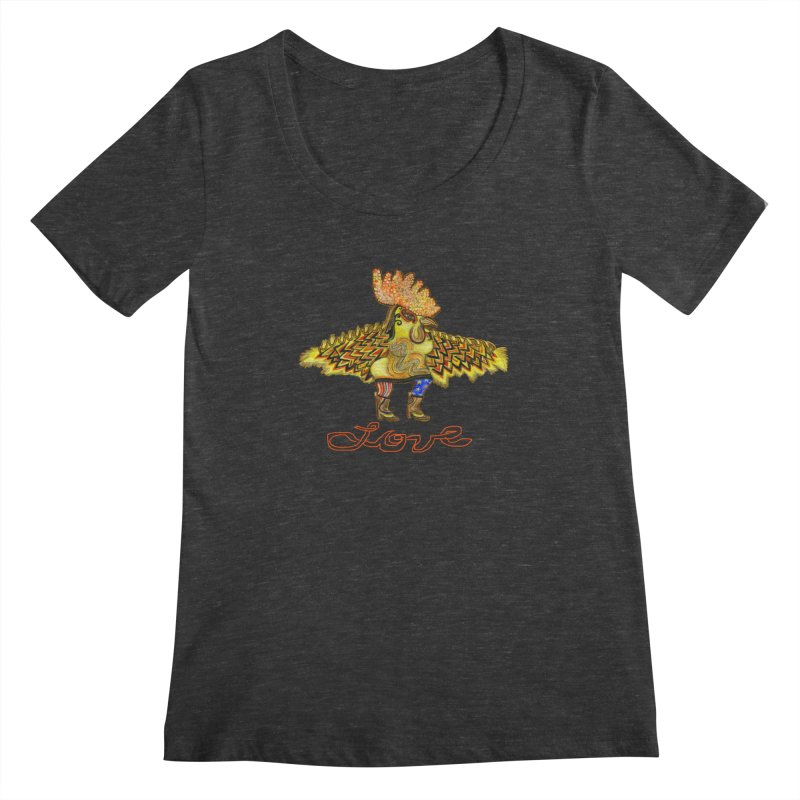 Charli the River Chicken Women's Scoopneck by Julie Murphy's Artist Shop
