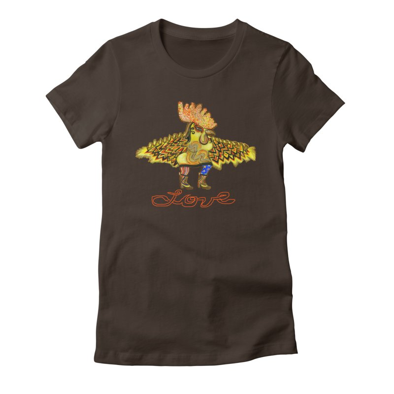 Charli the River Chicken Women's Fitted T-Shirt by Julie Murphy's Artist Shop