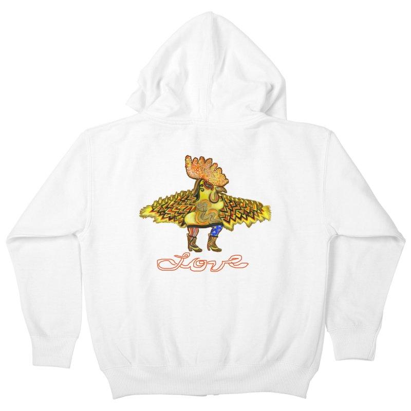 Charli the River Chicken Kids Zip-Up Hoody by Julie Murphy's Artist Shop