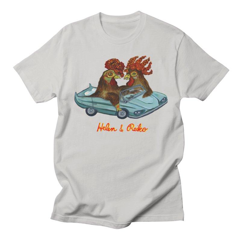 Helen & Reiko Men's Regular T-Shirt by Julie Murphy's Artist Shop