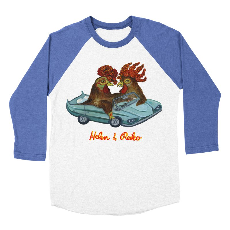 Helen & Reiko Women's Baseball Triblend Longsleeve T-Shirt by Julie Murphy's Artist Shop