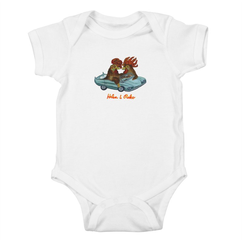 Helen & Reiko Kids Baby Bodysuit by Julie Murphy's Artist Shop