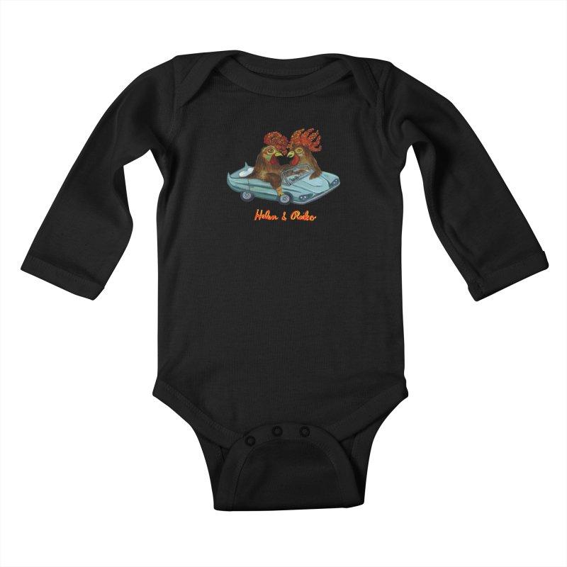 Helen & Reiko Kids Baby Longsleeve Bodysuit by Julie Murphy's Artist Shop