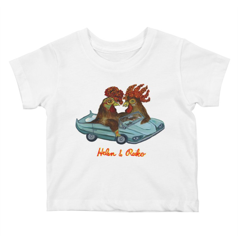 Helen & Reiko Kids Baby T-Shirt by Julie Murphy's Artist Shop