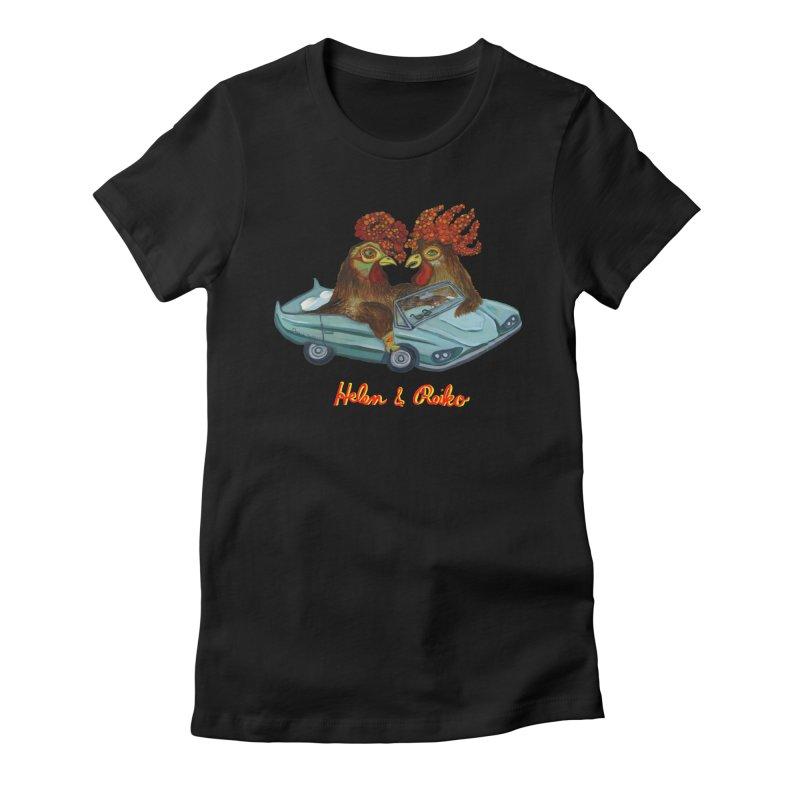 Helen & Reiko Women's Fitted T-Shirt by Julie Murphy's Artist Shop