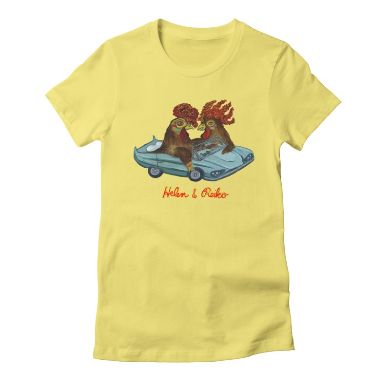 Helen & Reiko Women's Fitted T-Shirt by Julie Murphy's Artist Shop