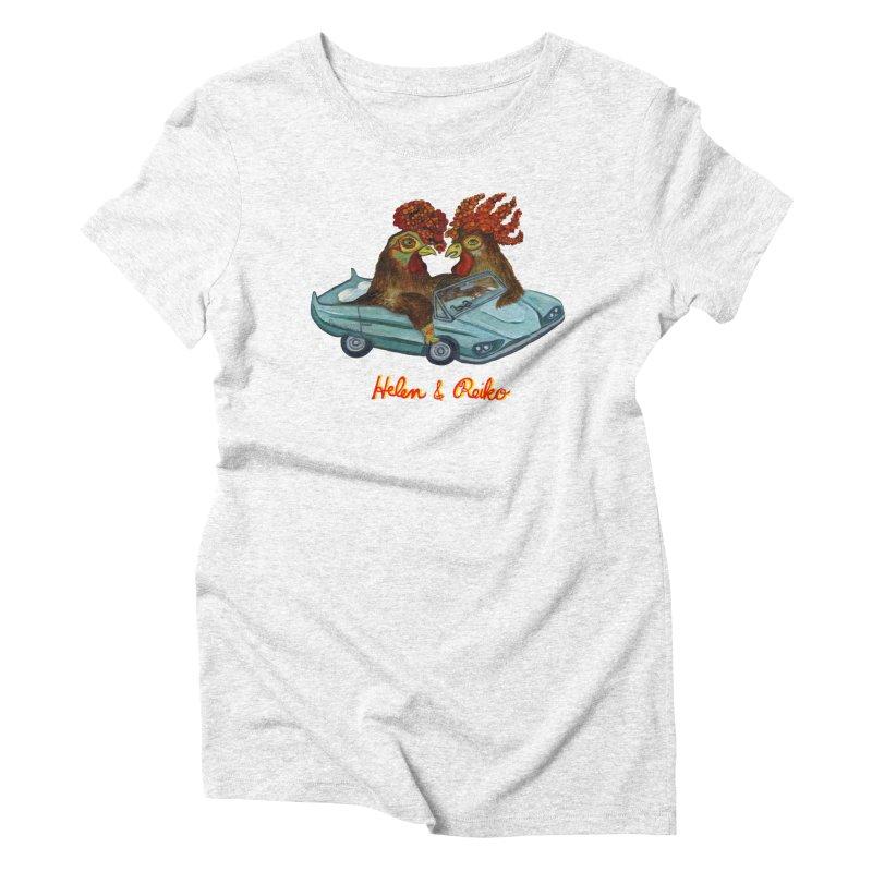 Helen & Reiko Women's Triblend T-shirt by Julie Murphy's Artist Shop