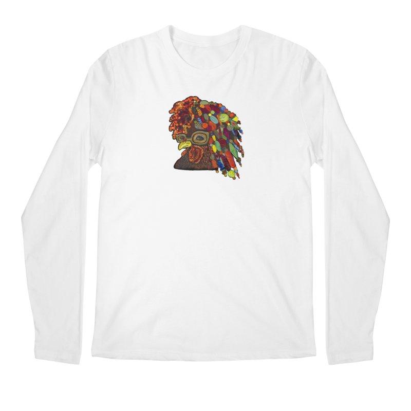 Mardi Gras Rooster Men's Regular Longsleeve T-Shirt by Julie Murphy's Artist Shop