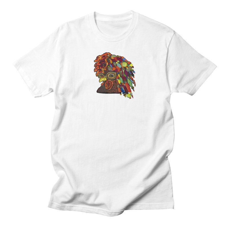 Mardi Gras Rooster Men's T-shirt by Julie Murphy's Artist Shop