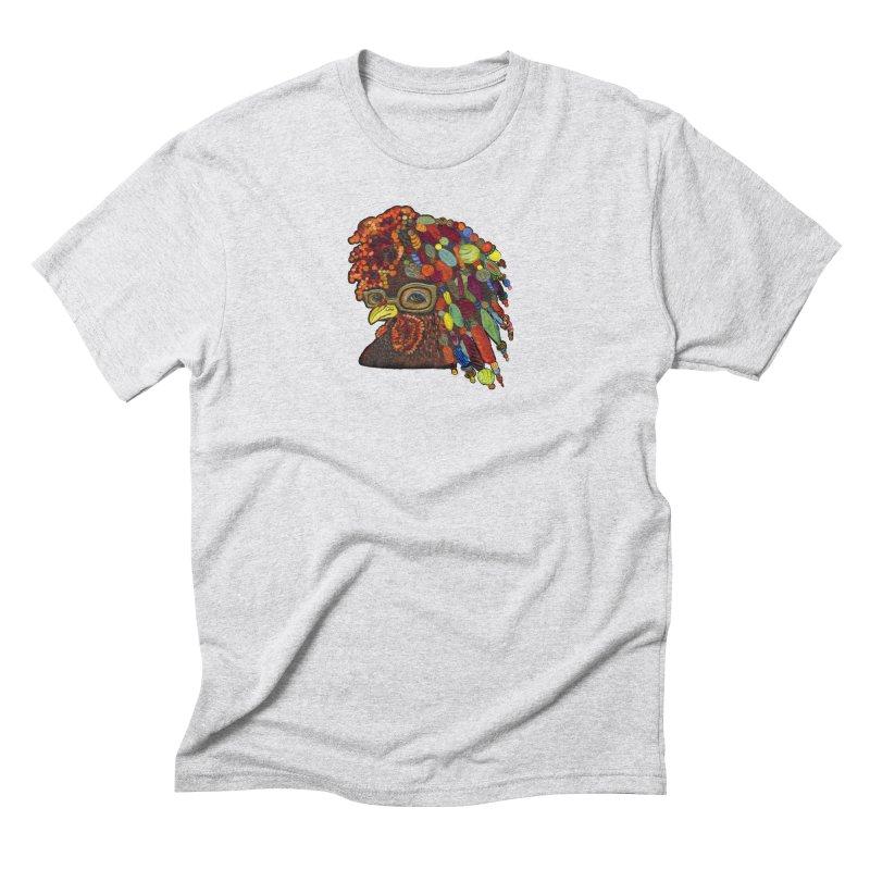 Mardi Gras Rooster Men's Triblend T-Shirt by Julie Murphy's Artist Shop