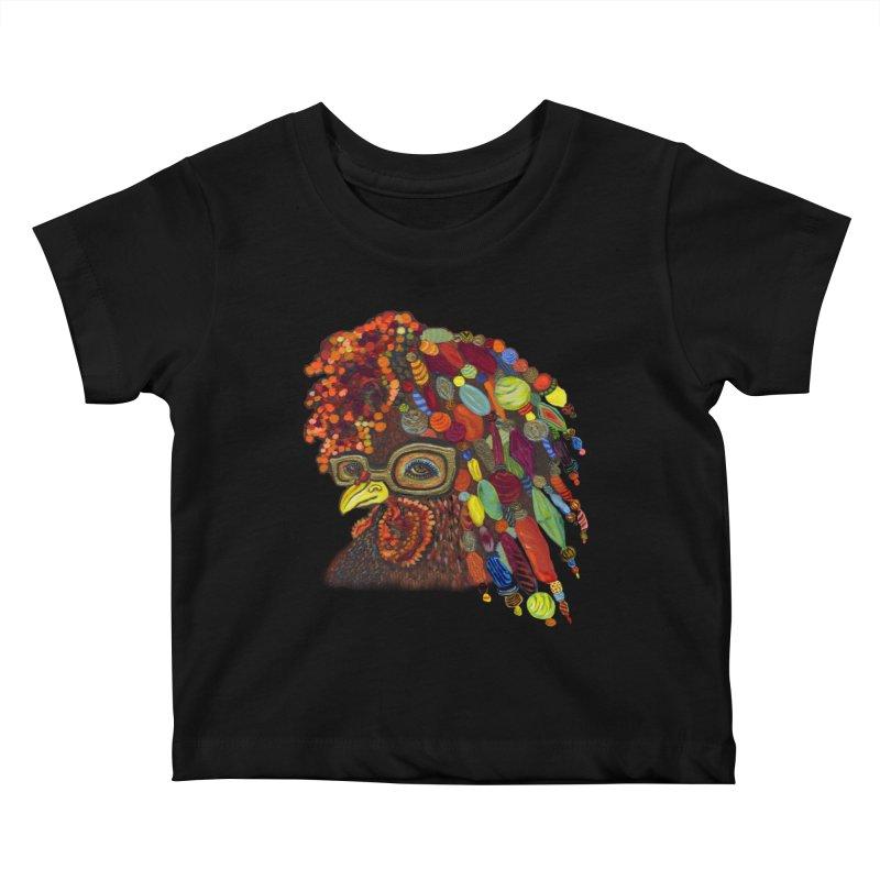 Mardi Gras Rooster Kids Baby T-Shirt by Julie Murphy's Artist Shop